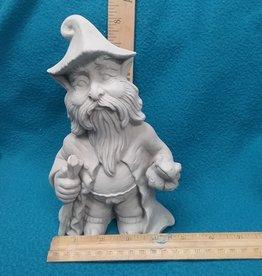 ART KIT Art Kit: Ceramic Gnome w walking stick #6