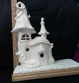 ART KIT Art Kit: Ceramic Fairy House flower roof#5