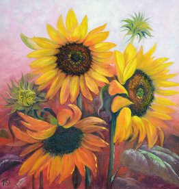 Art Class:  Acrylic Sunflowers Tuesday July 21 2 pm to 4pm