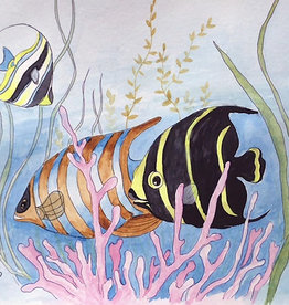 Art Class:  Watercolour Fish Tuesday July 21 11am to 1pm