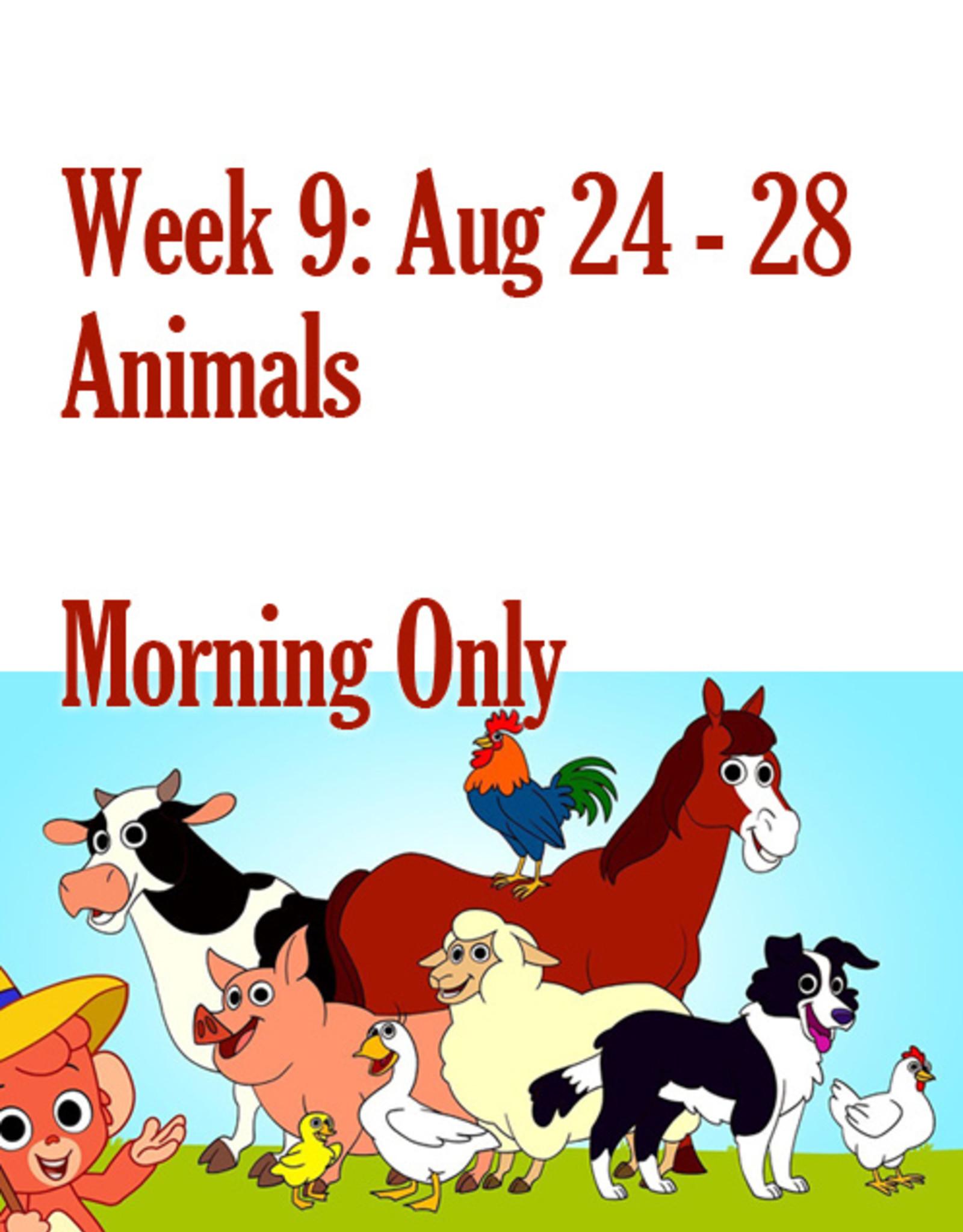 Art Camp Art Camp: Week Nine August 24 - Aug 28 AM