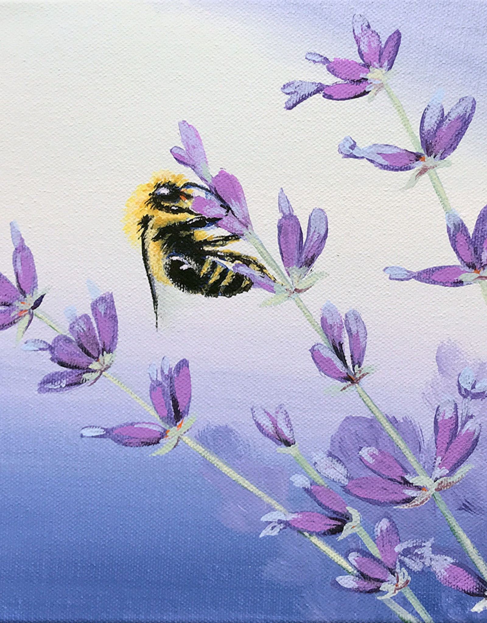 Tamara S Art Class: Acrylic Bee and Lavender Tues Aug 11