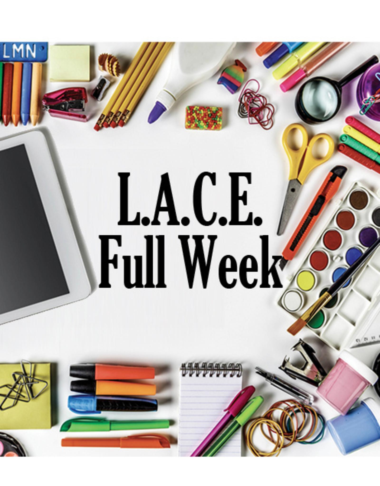 FTLA LACE Program: FULL Week M-F 9:00 am  to 4:00 pm
