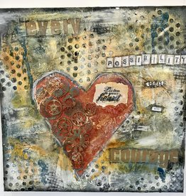 Melissa K Mixed Media Industrial Heart  Sun Oct 18 2:00  to 4:00 pm
