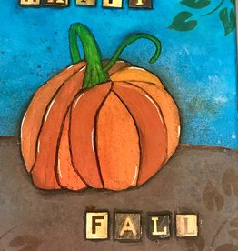 Melissa K Art Class: Mixed Media Fall Pumpkin Mon Oct 19  6:00 to 8:00 pm