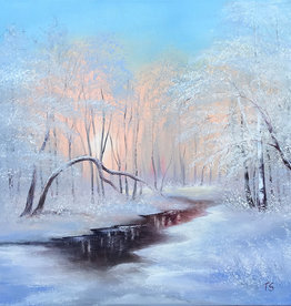 Tamara S Oil Winter Landscape Tues Nov 3