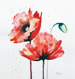 Tamara S Watercolour  Two Poppies Tues Nov 3