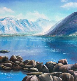 Tamara S Watercolour Mountain Lake Wed Nov 11
