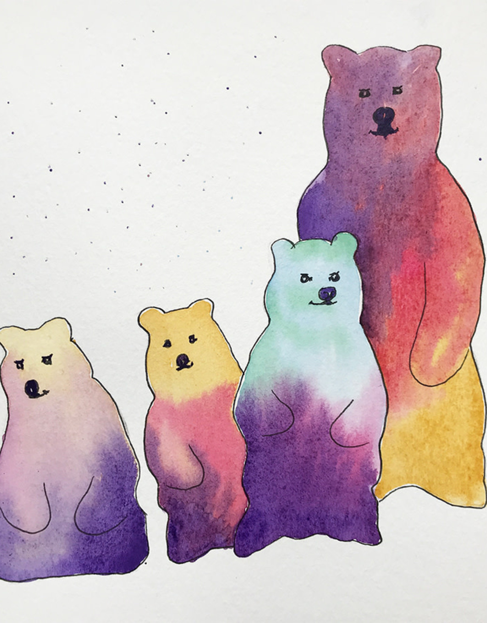 Tamara S W/C & ink Bears Sun Dec 13 11:00 am to 12:30 pm