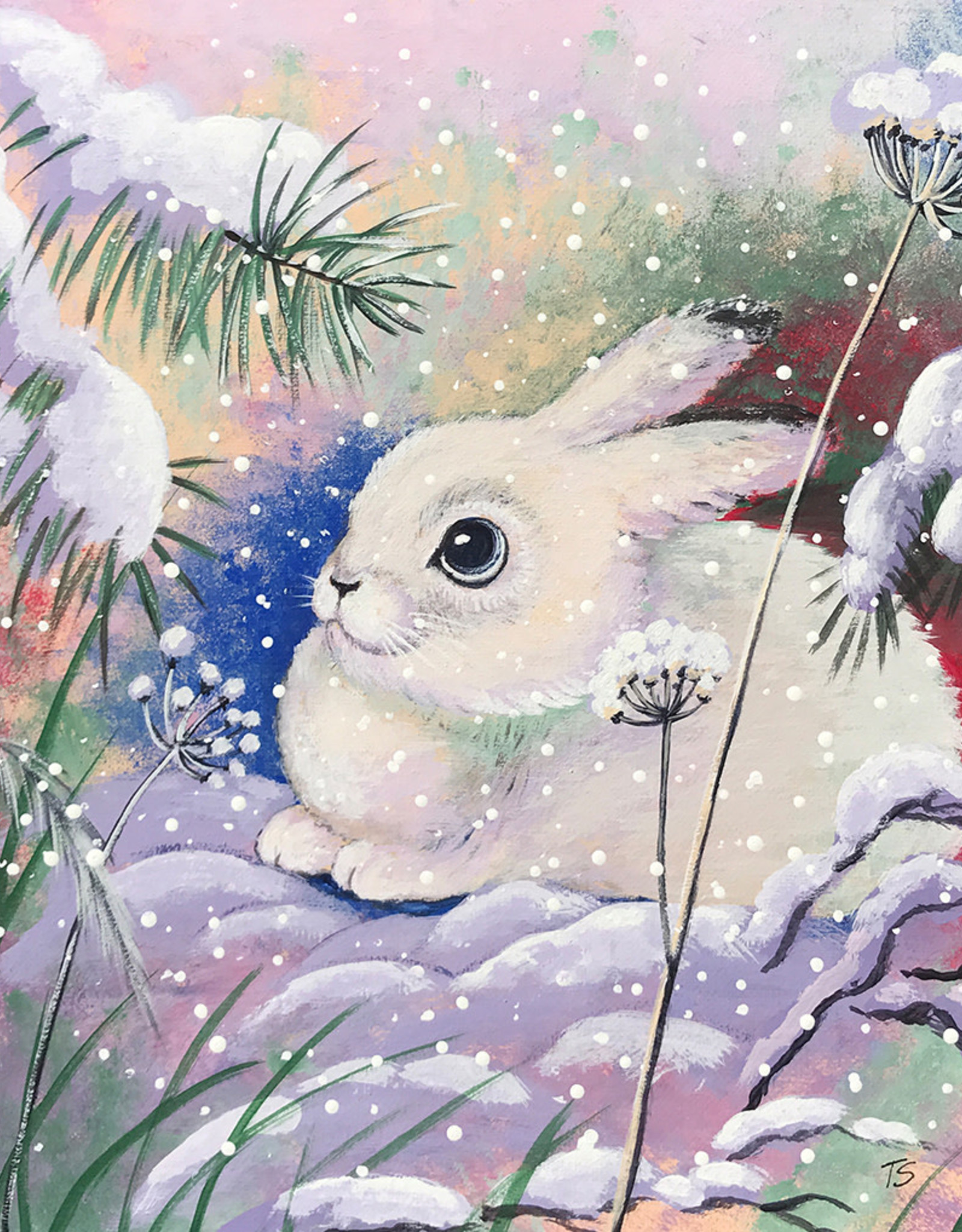 Tamara S Acrylic  White Rabbit on the Snow Wed Dec 23 11:00 am to 3:00 pm