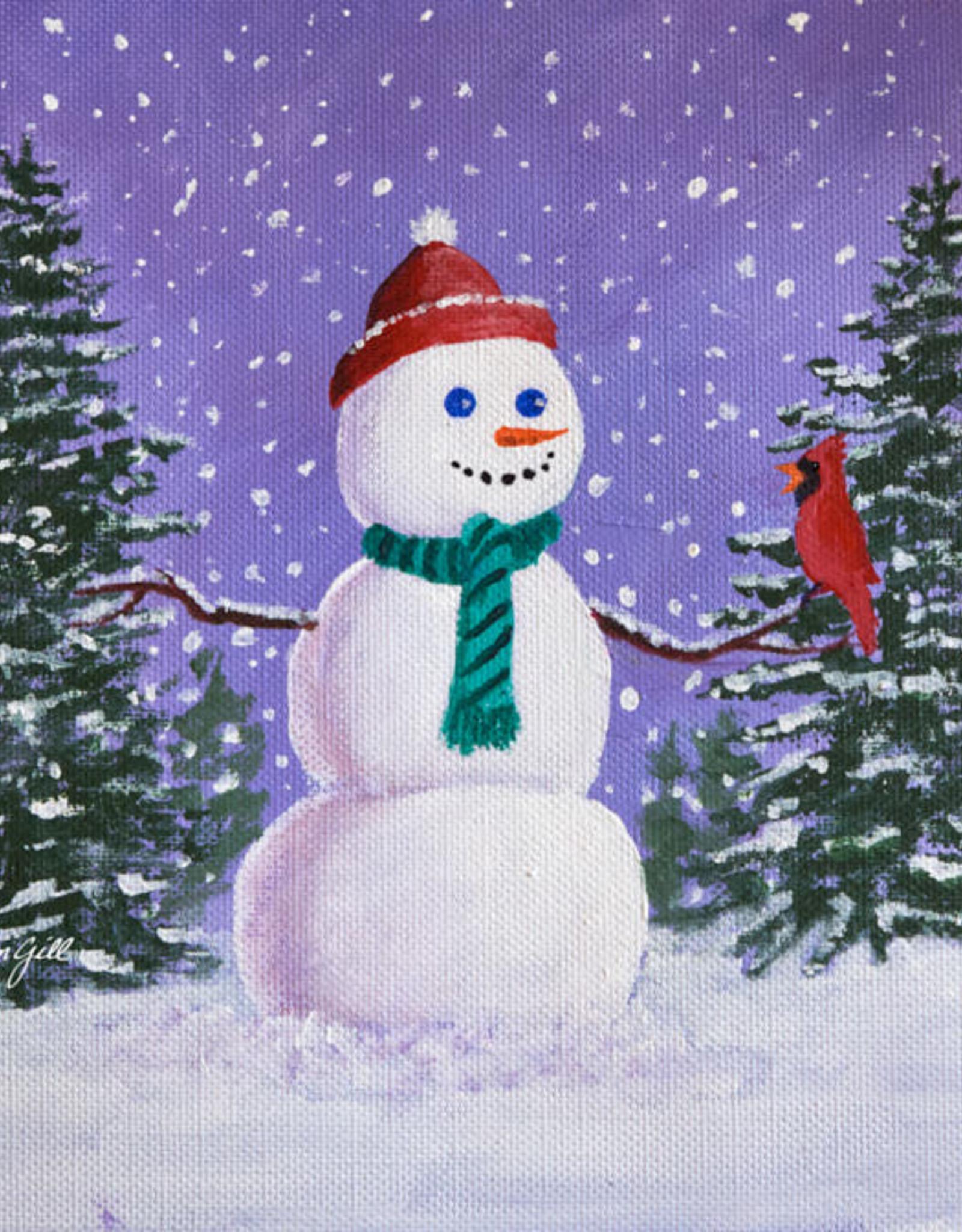 Jim G Acrylic Snowman Sat Dec 5 10 am to 12:00 pm