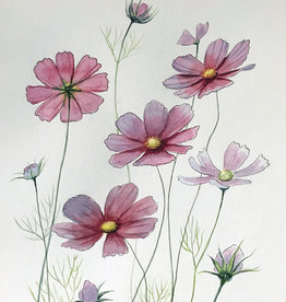 Tamara S Watercolour Art Class Cosmos Flowers Wed Jan 27 -1:00 pm