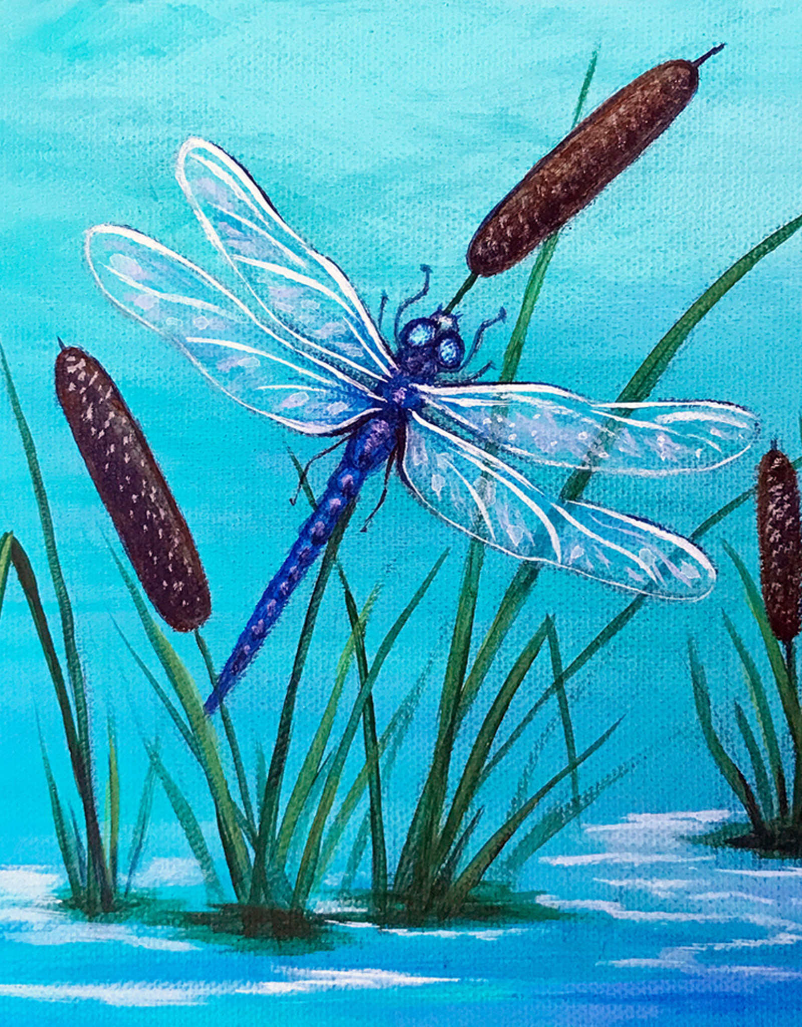 Tamara S Acrylic Art Class Dragonfly  Wed March 31 11:00 am to 1:00 pm