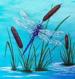 Tamara S Acrylic Art Class Dragonfly Tues Feb 16  11-1:00 pm