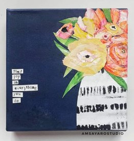 Amsa Mixed Media Art Class Flower Vase Tue Jan 26 6-8pm
