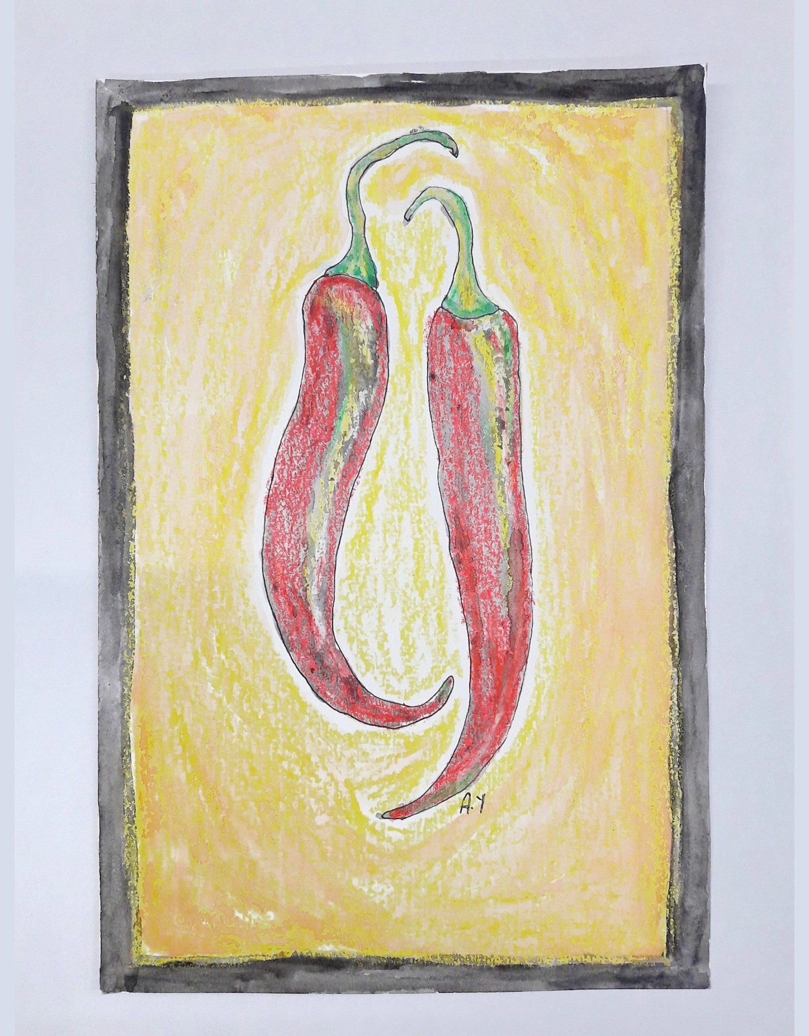 Amsa Mixed Media Art Class Hot and Spicy peppers Tue Jan 26 4:15-5:15pm
