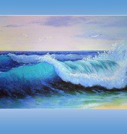 Tamara S Acrylic Art Class Sea Wave Tues Jan 26  11-1:30 pm