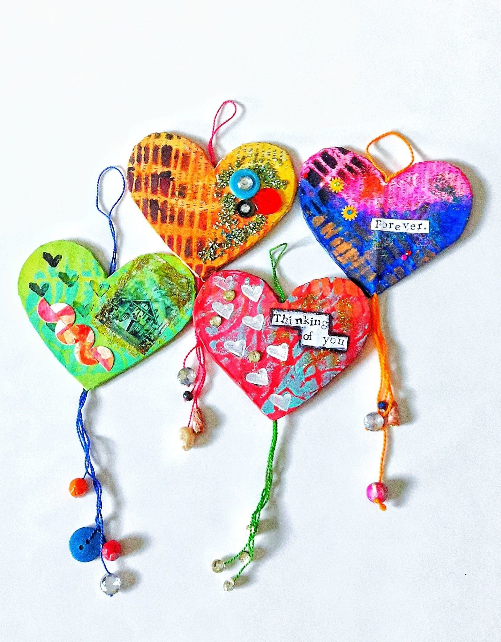 Amsa Mixed media art class  Paper Mache Colorful hearts  Feb 4 4:15-5:15pm