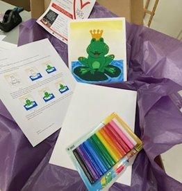 ART KIT Plasticine Relief Princess Frog Art Kit