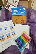 ART KIT Plasticine Relief footprints on the Sand Art Kit