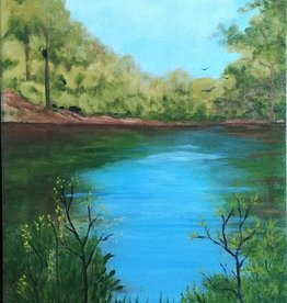 Aura B Virtual Acrylic Art Class Westminster Pond  Sat May 15   11 am to 2 pm