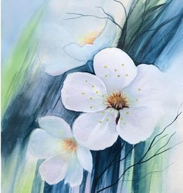 Tamara S Watercolour Art Class White Flowers Wed April 21 2:00 - 4:00 pm