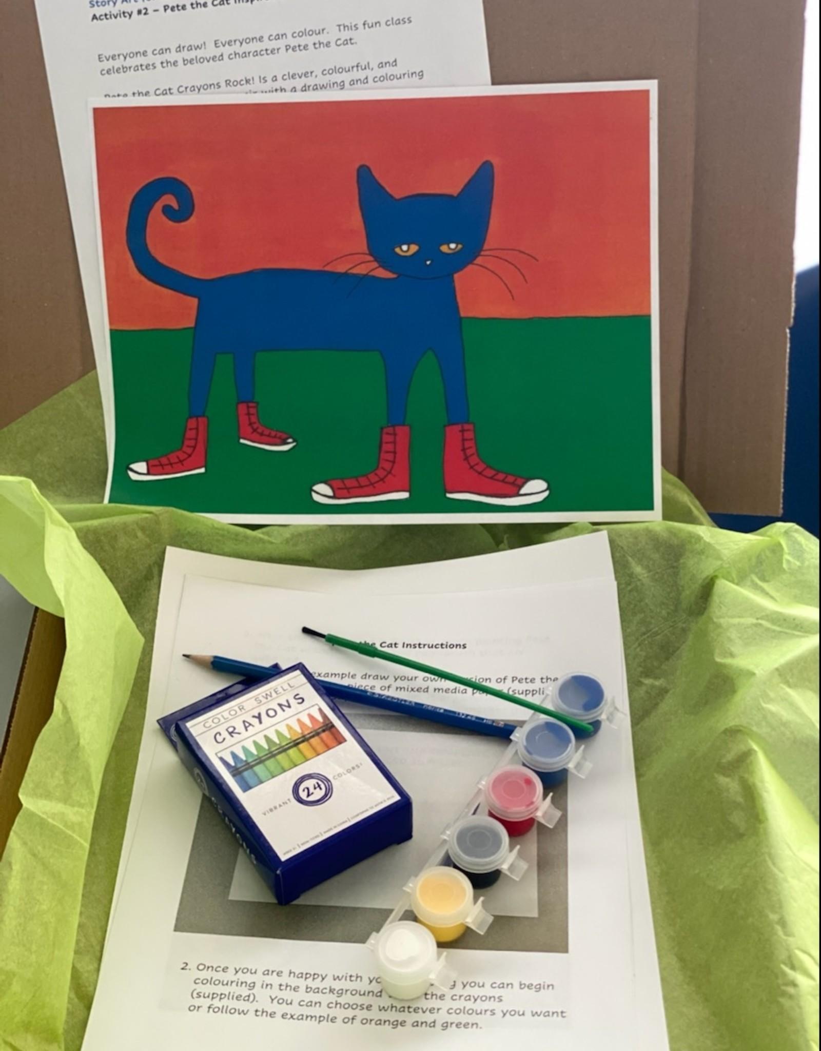 Melissa K Art Kit: Pete the Cat/Story art for kids