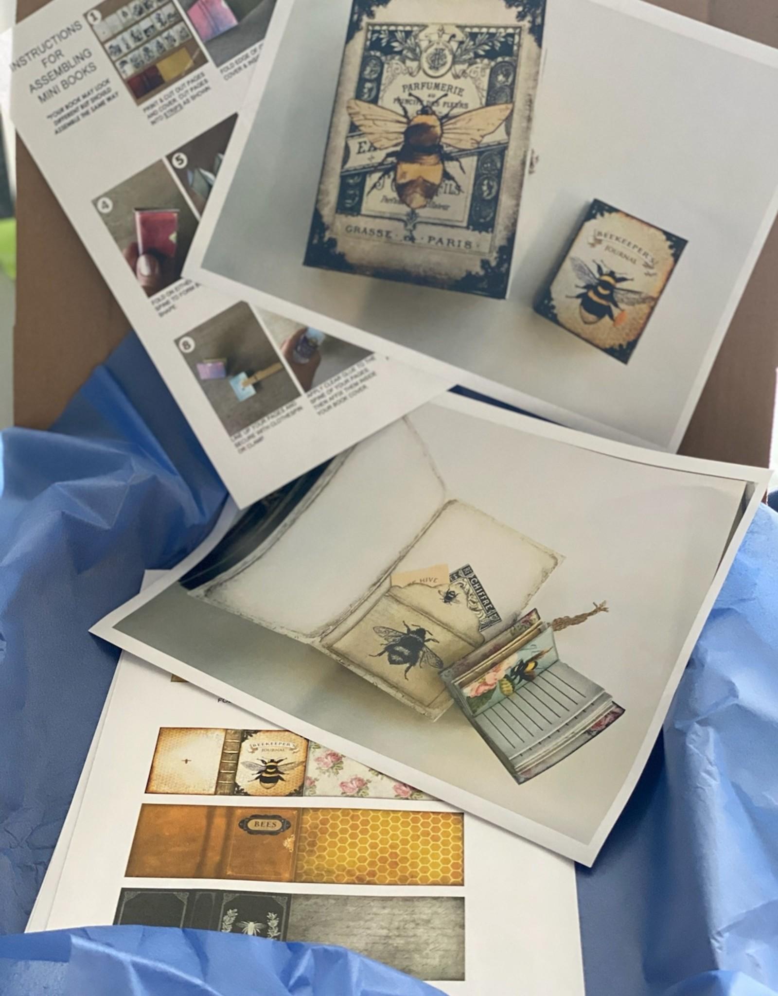 Melissa K Art Kit: Junk Journal /Mini Album Making Art Class Bee Inspired