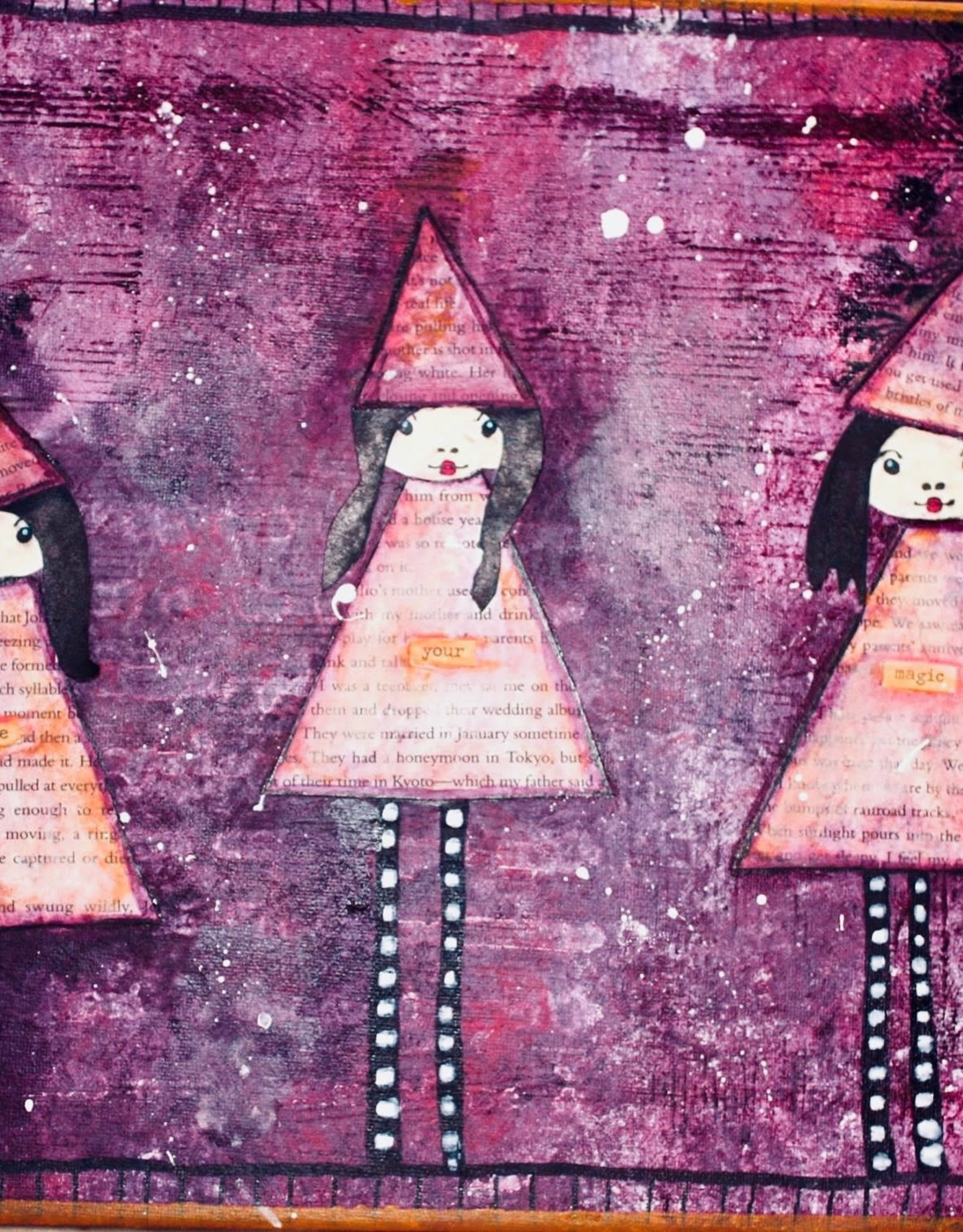 Melissa K Mixed Media Art class 3 Witches Thurs Sept 30 6:00 pm to 8:00 pm