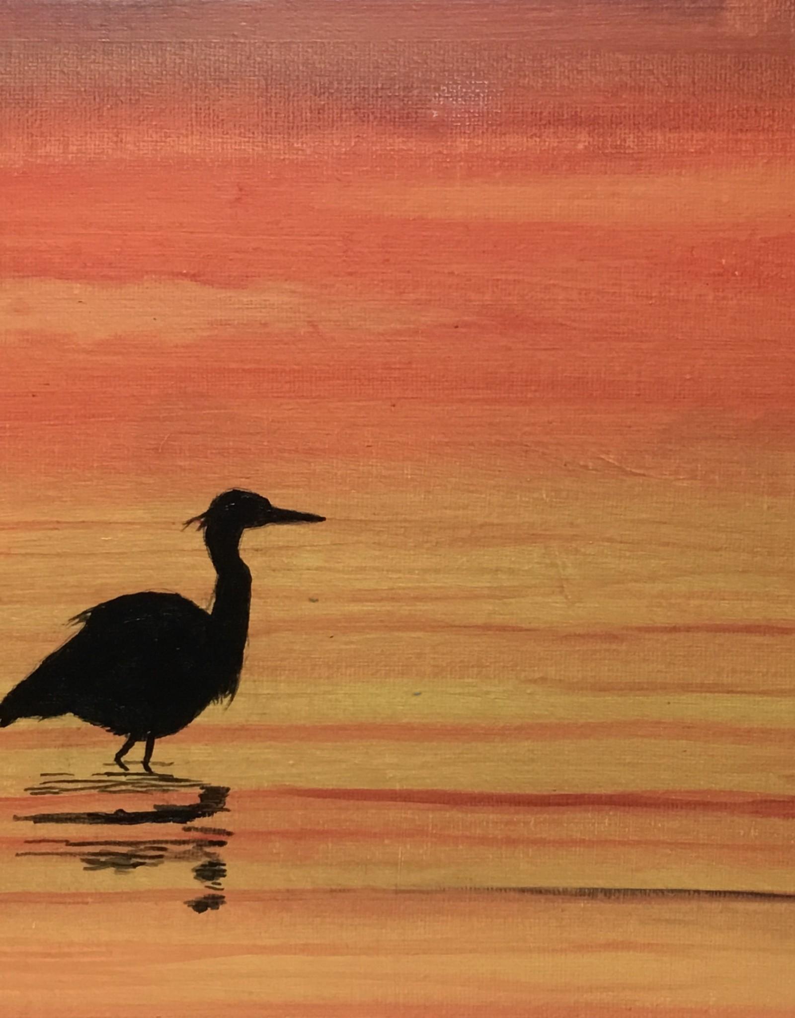Jim G Acrylic Art Class Heron at Sunset Sat Oct 2 11 to 1 pm