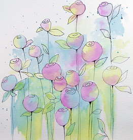 Watercolour/Drawing Art Class Abstract Roses Wed Oct 6 4:00  to 6:00 pm
