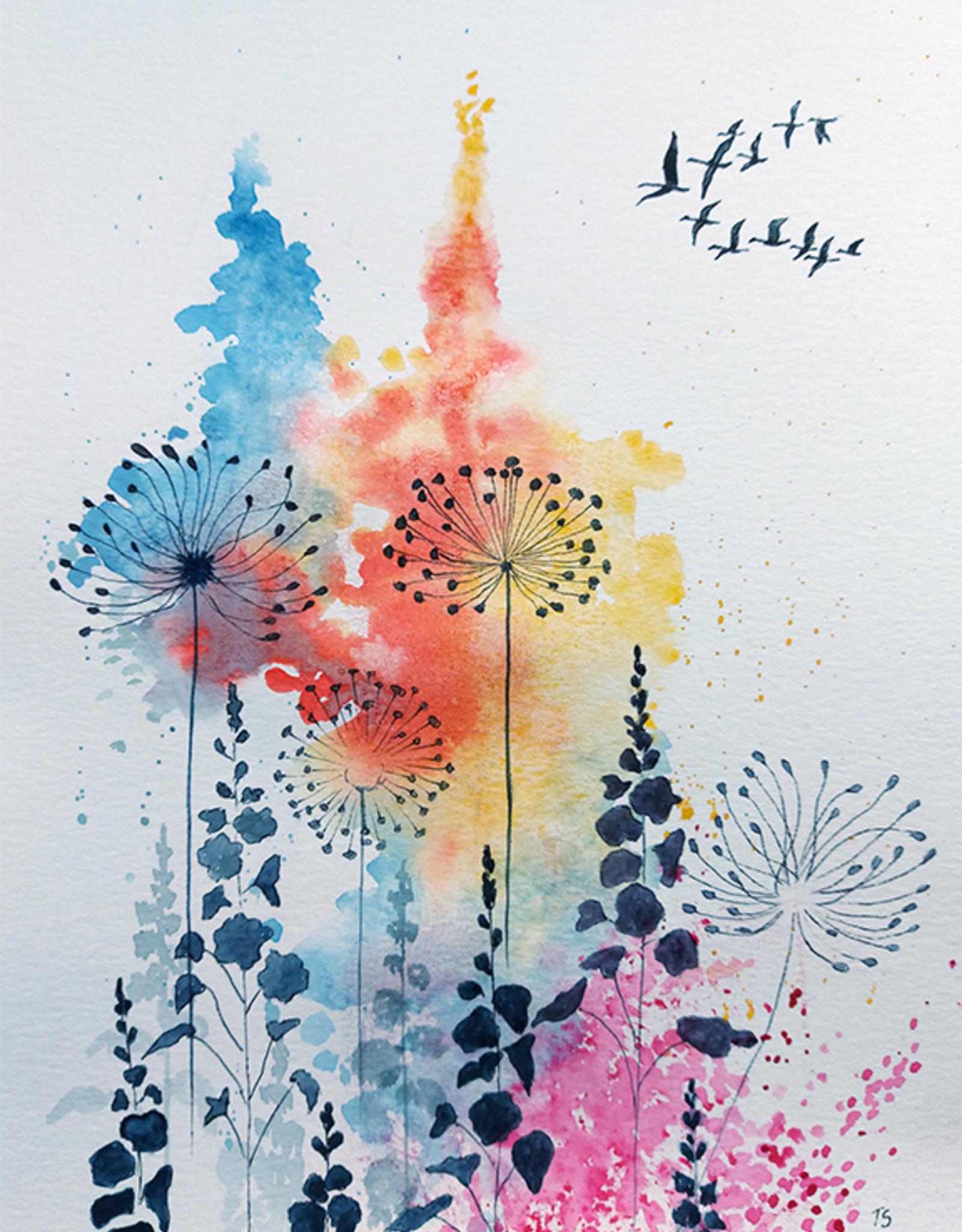 Tamara S Watercolour/Drawing Art Class Fall Flowers Wed Oct 13 1:00 to 3:00 pm