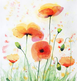 Tamara S Watercolour Art Class Sunny Poppies Wed Oct 13 4:00  to 6:00 pm