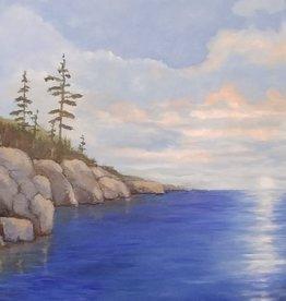 Aura B Acrylic Art Class  Northern Landscape Intermediate  Tues Nov 16  6:30 to 8:30 pm