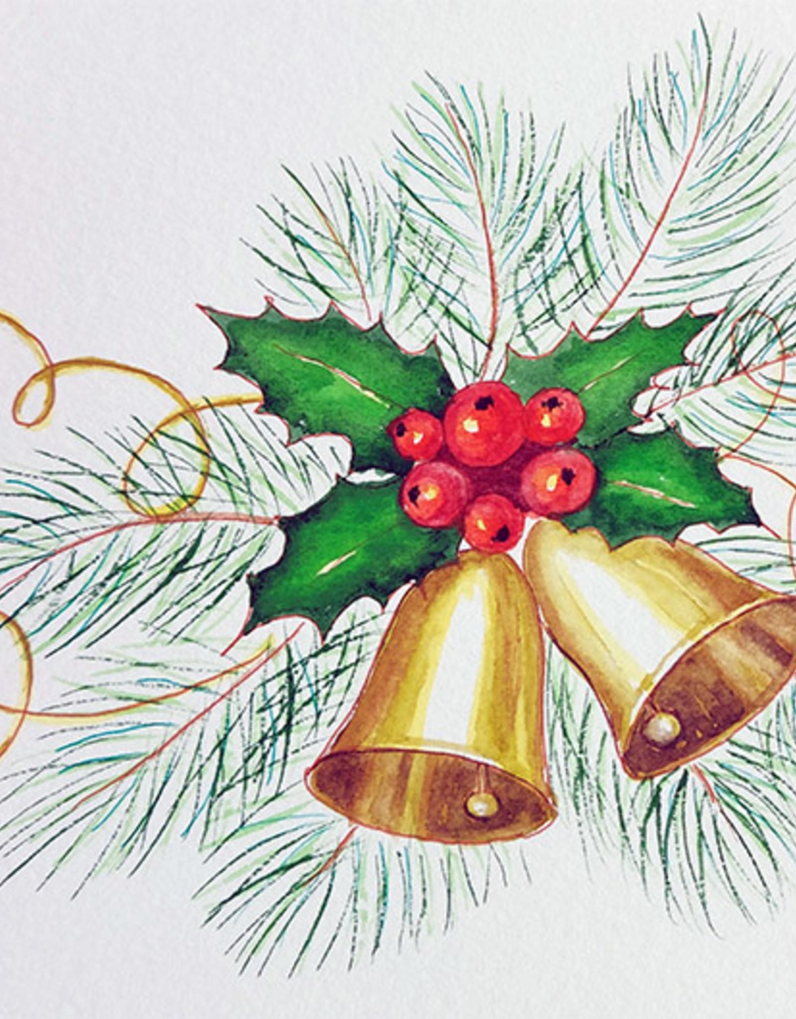 Tamara S Watercolour/Drawing Art Class Christmas Bells Greeting Card Wed Nov 24 1:00  to 2:00 pm
