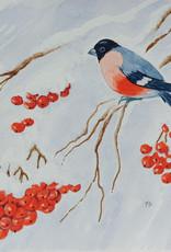 Watercolour Art Class Bullfinch and Rowan Berries Wed Nov 17 11:00 am to 1:00 pm