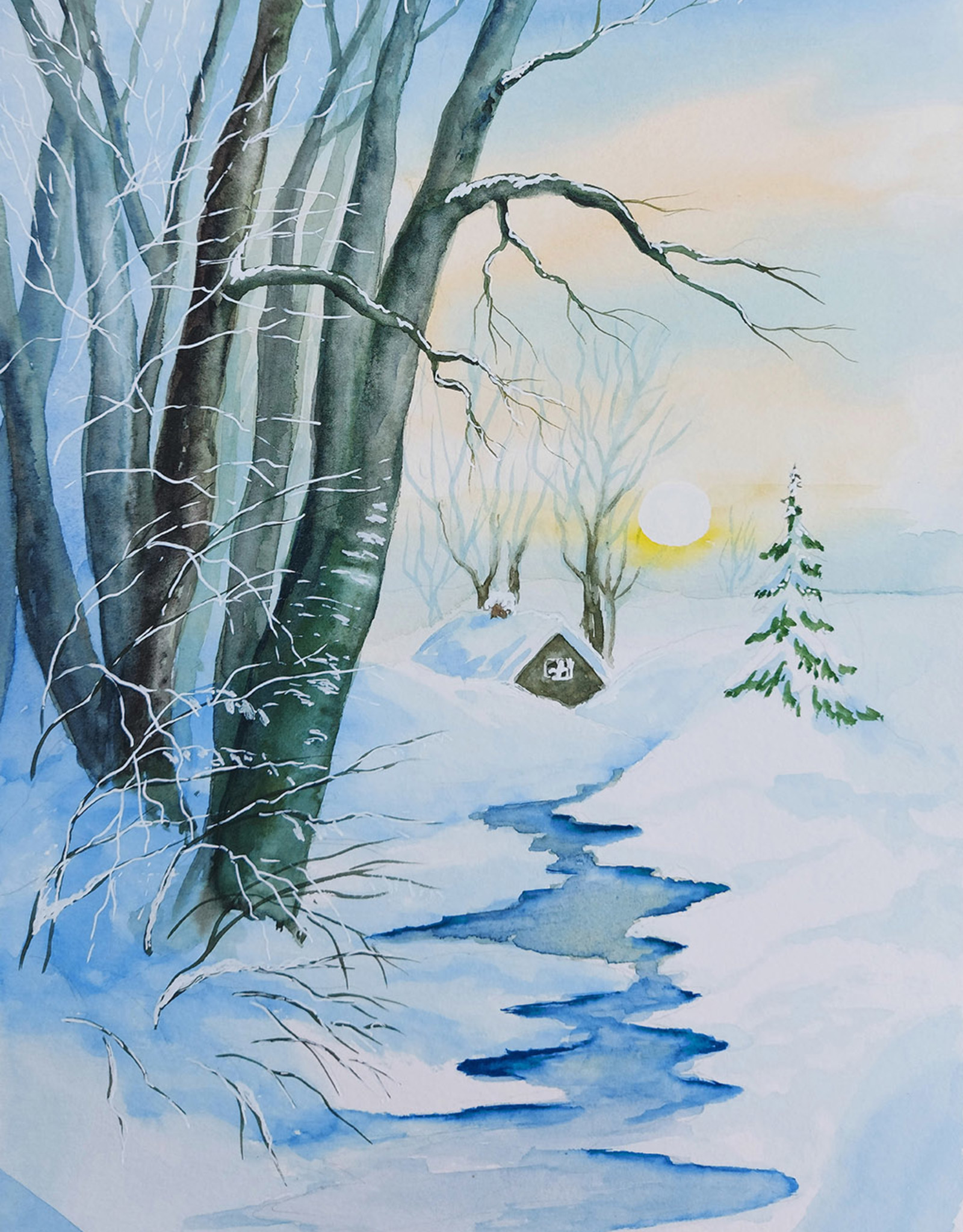 Tamara S Watercolour Art Class Snowy Winter Wed Nov 10 1:00 pm to 3:00 pm