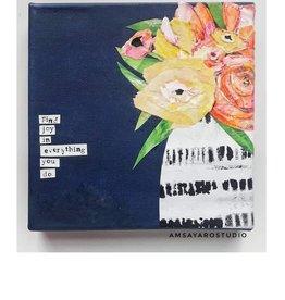 Amsa Mixed Media Art Class Flower Vase Tues Nov 16  1:00 pm to 3:00 pm