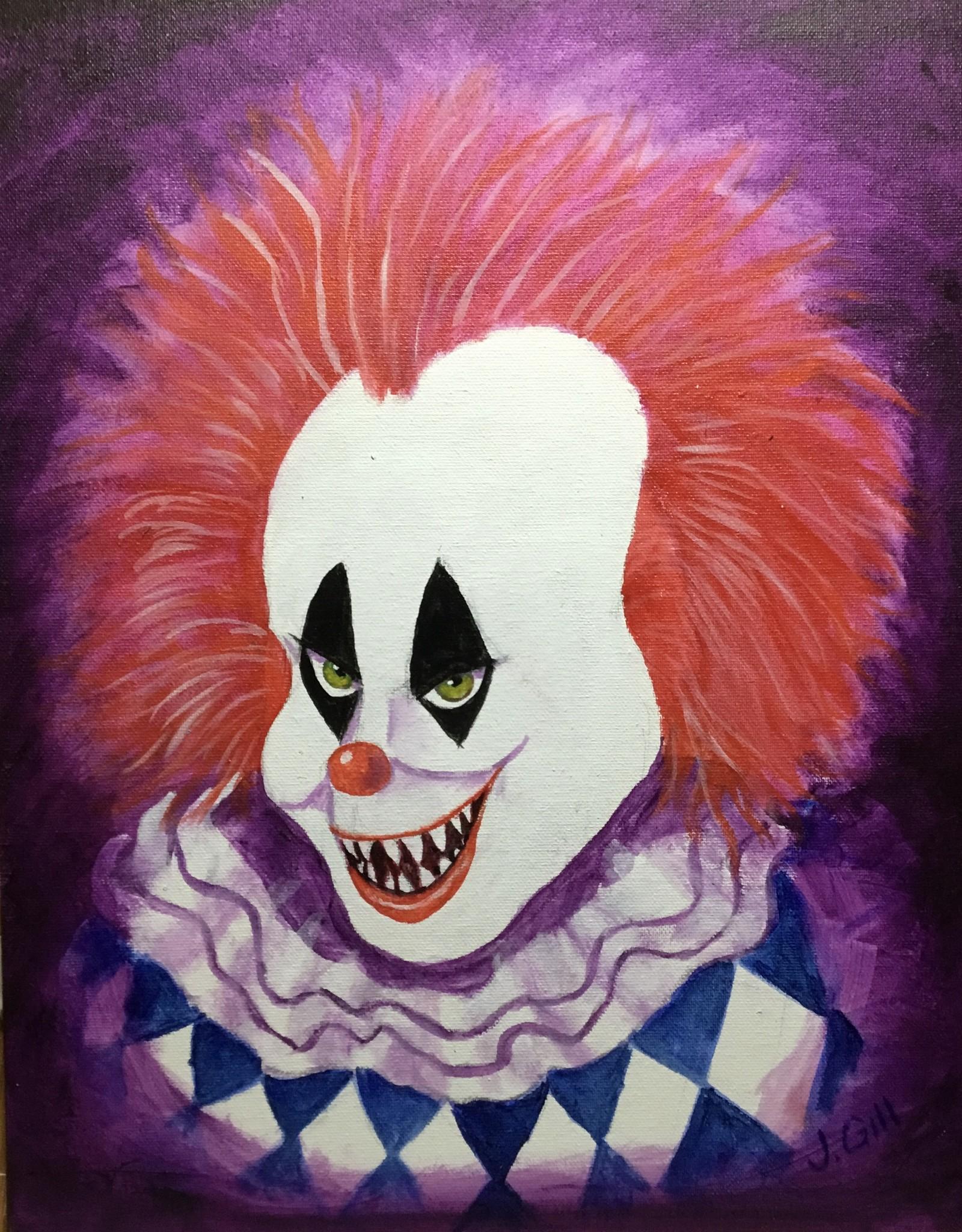 Jim G Acrylic Art Class Halloween Clown Thur Oct 28 6:00 to 8:00  pm