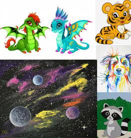Tamara S Acrylic Art Class  for kids Thurs Oct 28 to Thurs Nov 18 4:30 to 5:30 pm