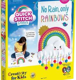 Creativity for Kids Quick stitch banner rainbow
