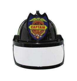 Aeromax Black Firefighter Helmet with Visor