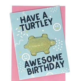 Feeling Smitten Have a Turtley Awesome Birthday Card