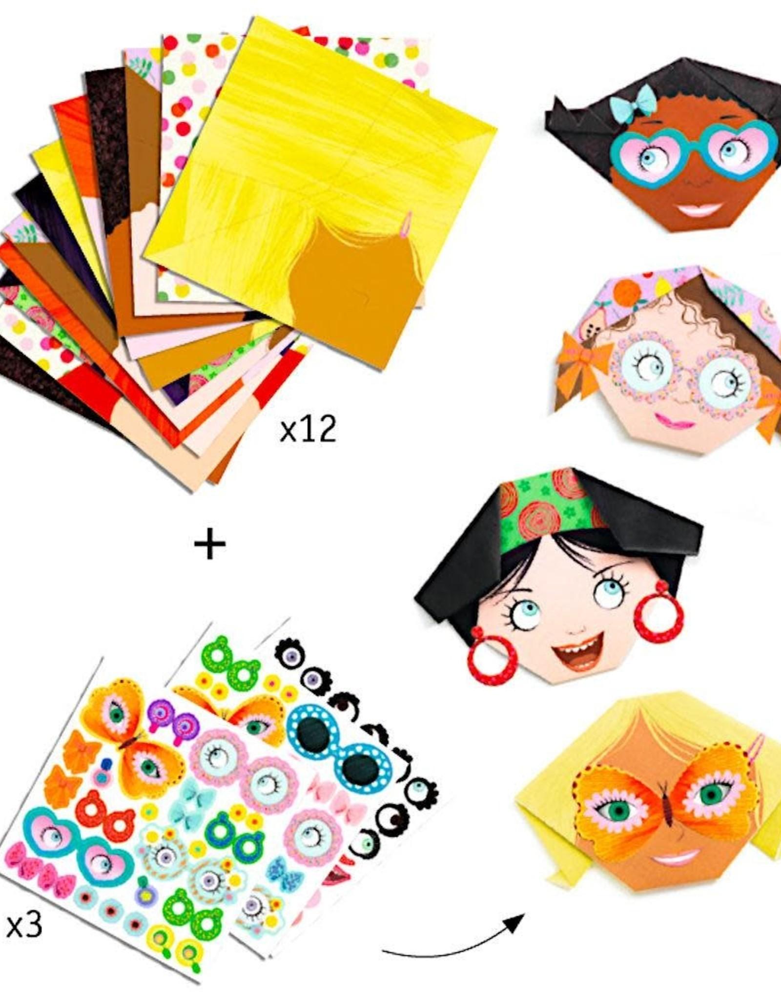 Djeco Origami Pretty Faces