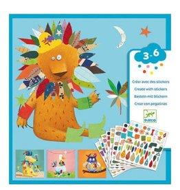 Djeco Sticker Kit Create Animals