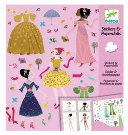 Djeco Stickers Dresses Fashion