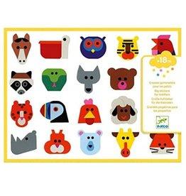 Djeco Stickers Head to Head
