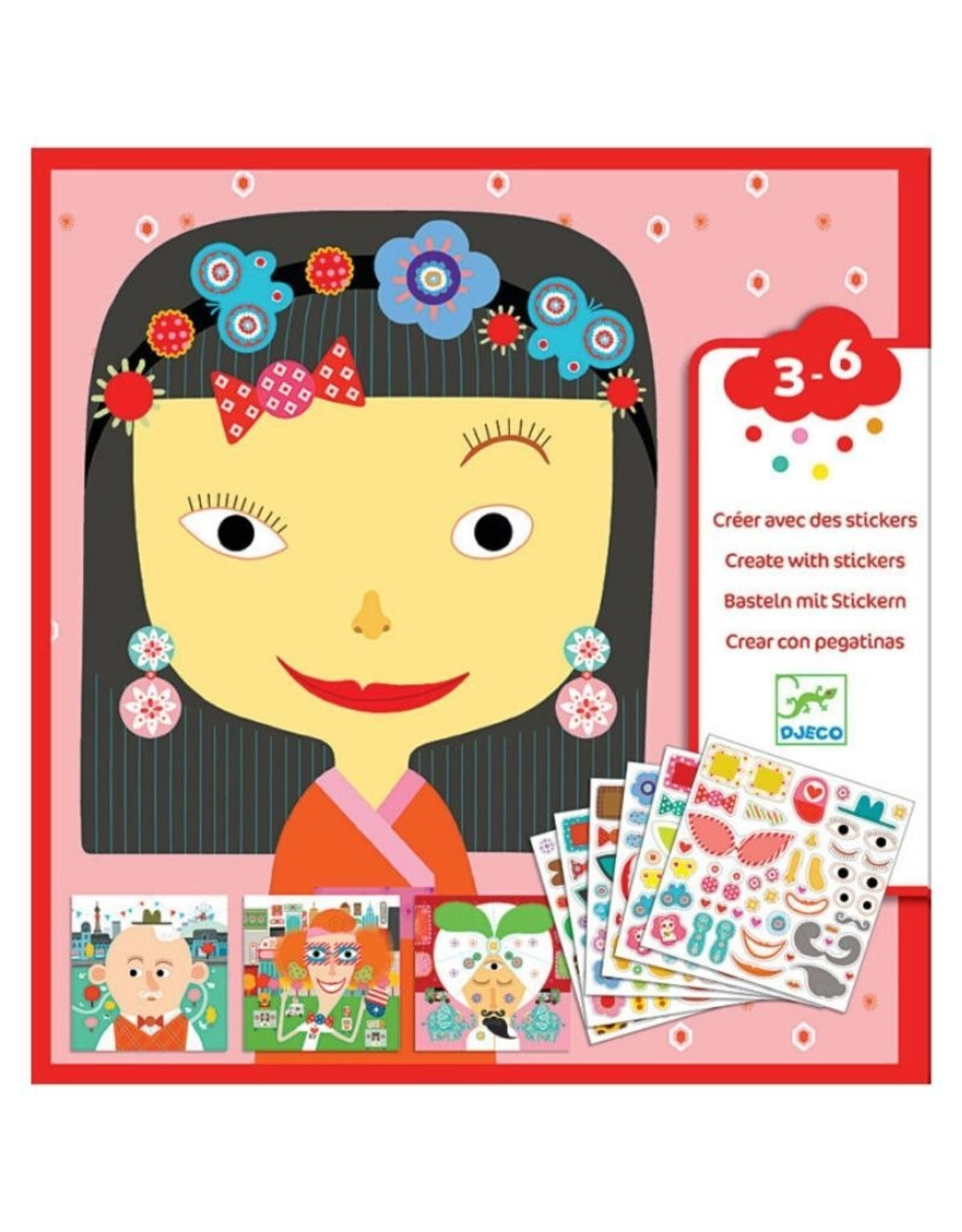 Djeco Stickers Kit Make a Face