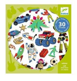 Djeco Stickers Retro Toys