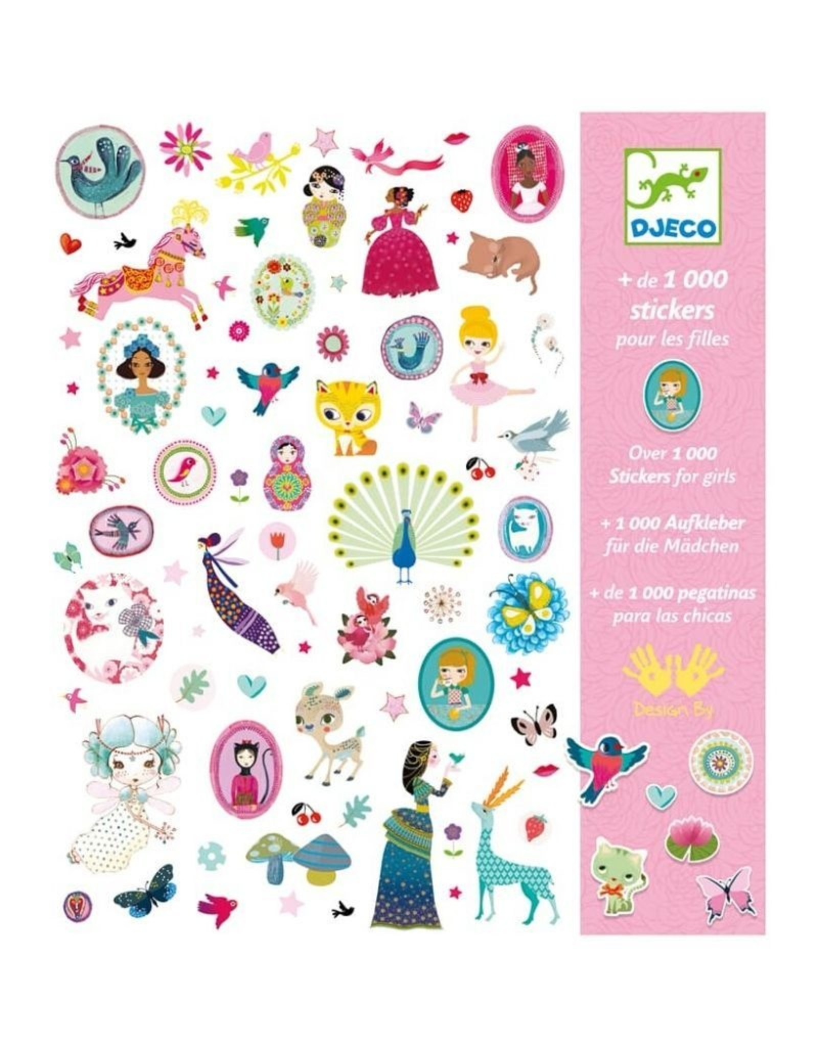 Djeco 1000 Stickers For The Girls
